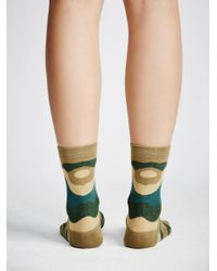 Free People - Blue Adventure Crew Sock - Lyst