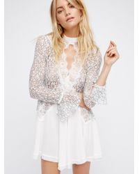 Free People - White Secret Origins Pieced Lace Tunic - Lyst
