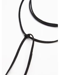 Free People - Black Flawed Leather Wrap Bolo - Lyst