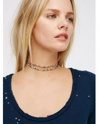 Free People | Metallic Frequency Choker | Lyst