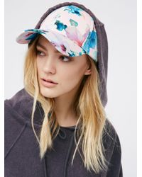 Free People   Multicolor Full Bloom Printed Baseball Hat   Lyst