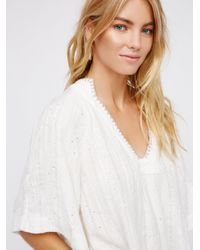 Free People Blue Get Over It Pullover