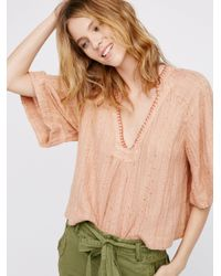 Free People Natural Get Over It Pullover