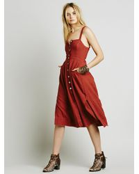 Free People | Red Girlfriend Material Dress | Lyst