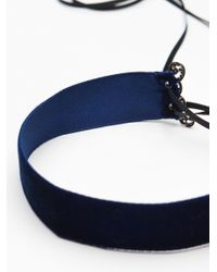 Free People - Blue Gloria Velvet Corset Choker - Lyst