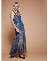 Free People | Blue Harlow Maxi Dress | Lyst