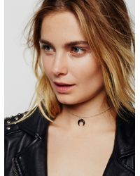 Free People | Black Horn Choker | Lyst