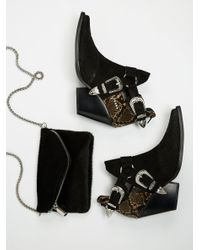 Free People | Black Icon Western Boot | Lyst