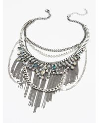 Free People - Metallic Illusion Shadows Collar - Lyst