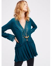 Free People | Blue In The Shadows Tunic | Lyst