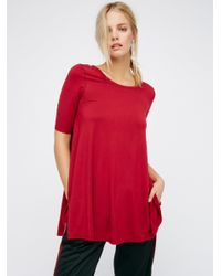 Free People | Red Jacqueline Tunic | Lyst