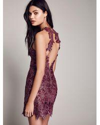 Free People | Multicolor Jessa Foil Lace Dress | Lyst