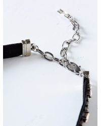 Free People - Black Kaleidoscope Skies Leather Necklace - Lyst