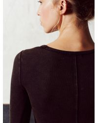 Free People - Black Keeping Tempo Top - Lyst