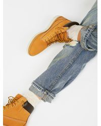Free People | Blue Kenniston Lace Up Boot | Lyst