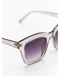 Free People - Gray Kensington Sunglass - Lyst