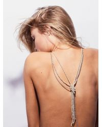 Free People | Multicolor Knotted Pearl & Chain Pendant | Lyst