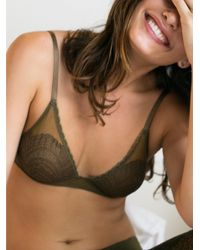 Free People | Brown Lace Triangle Bra | Lyst