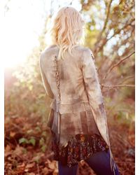 Free People   White Laced Ophelia Suede Jacket   Lyst