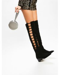 Free People   Black Ladder Over The Knee Boot   Lyst