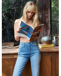 Free People | Blue Levi's Wedgie Straight Jean | Lyst