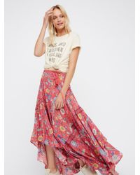 Free People | Multicolor Lovebird Half Moon Maxi Skirt | Lyst
