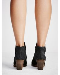 Free People - Black Loveland Ankle Boot - Lyst