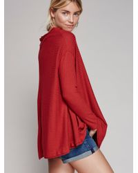 Free People   Red Lovers Rib Thermal   Lyst