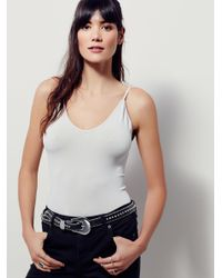 Free People | Gray Low Scoop Neck Cami | Lyst