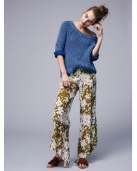 Free People | Natural Lucina Floral Hippie Pant | Lyst