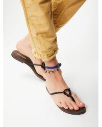 Free People | Black Malia Slip-on Sandal | Lyst