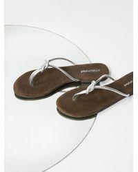 Free People   Metallic Malia Slip-on Sandal   Lyst