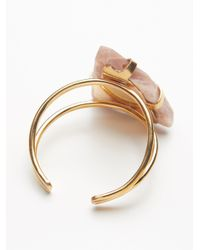Free People - Brown Mega Stone Cuff - Lyst