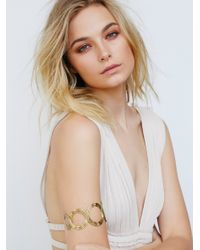 Free People | Metallic Metal Upper Armband | Lyst