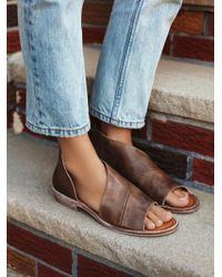 Free People | Brown Mont Blanc Sandal | Lyst