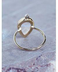 Free People - Multicolor Moonstone X Diamond Ring - Lyst