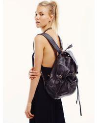Free People | Black Moto Distressed Backpack | Lyst