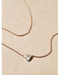 Free People - Metallic My Heart Ruby Necklace - Lyst
