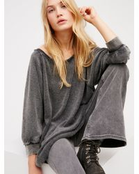 Free People | Black My Pullover | Lyst