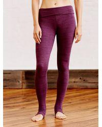 Free People - Purple Heathered Namaste Legging - Lyst