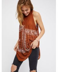 Free People | Brown New Romantics Good Vibes Top | Lyst