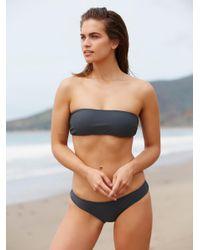 Free People | Blue Nikki Bikini Bottom Amelia Bikini Top Rose Solid Bikini Top | Lyst