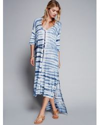 Free People   Blue Reign Over Me Sleeveless Dress   Lyst