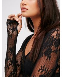 Free People - Black Oh Glove It Layering Top - Lyst