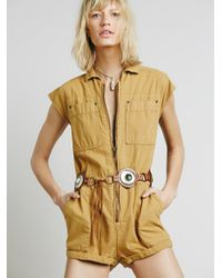 Free People | Multicolor Paracute Brief Romper | Lyst