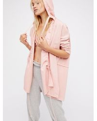 Free People | Pink Pleats And Pullover Cardi | Lyst