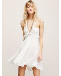 Free People | White Rosetta Dress | Lyst