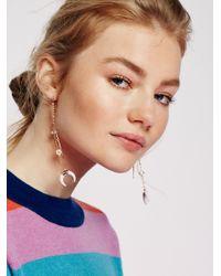 Free People | Multicolor Sabina Horn Pendulum Earring | Lyst