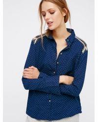 Free People Multicolor Sage Sweater Buttondown