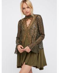 Free People | Multicolor Secret Origins Pieced Lace Tunic | Lyst